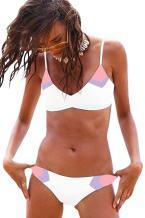 MELYUM Womens Two Pieces Bathing Suits Swimsuits Sexy Bikini Set String Bikinis Swimwear for Women