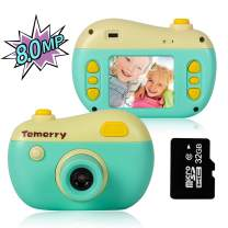 M SANMERSEN Kids Camera Toys Digital Camera for Kids Rechargeable Mini Child Camcorder Action Video Recorder with 32GB Memory Card for 4-8 Year Old Girls Boys Children Party Outdoor Play