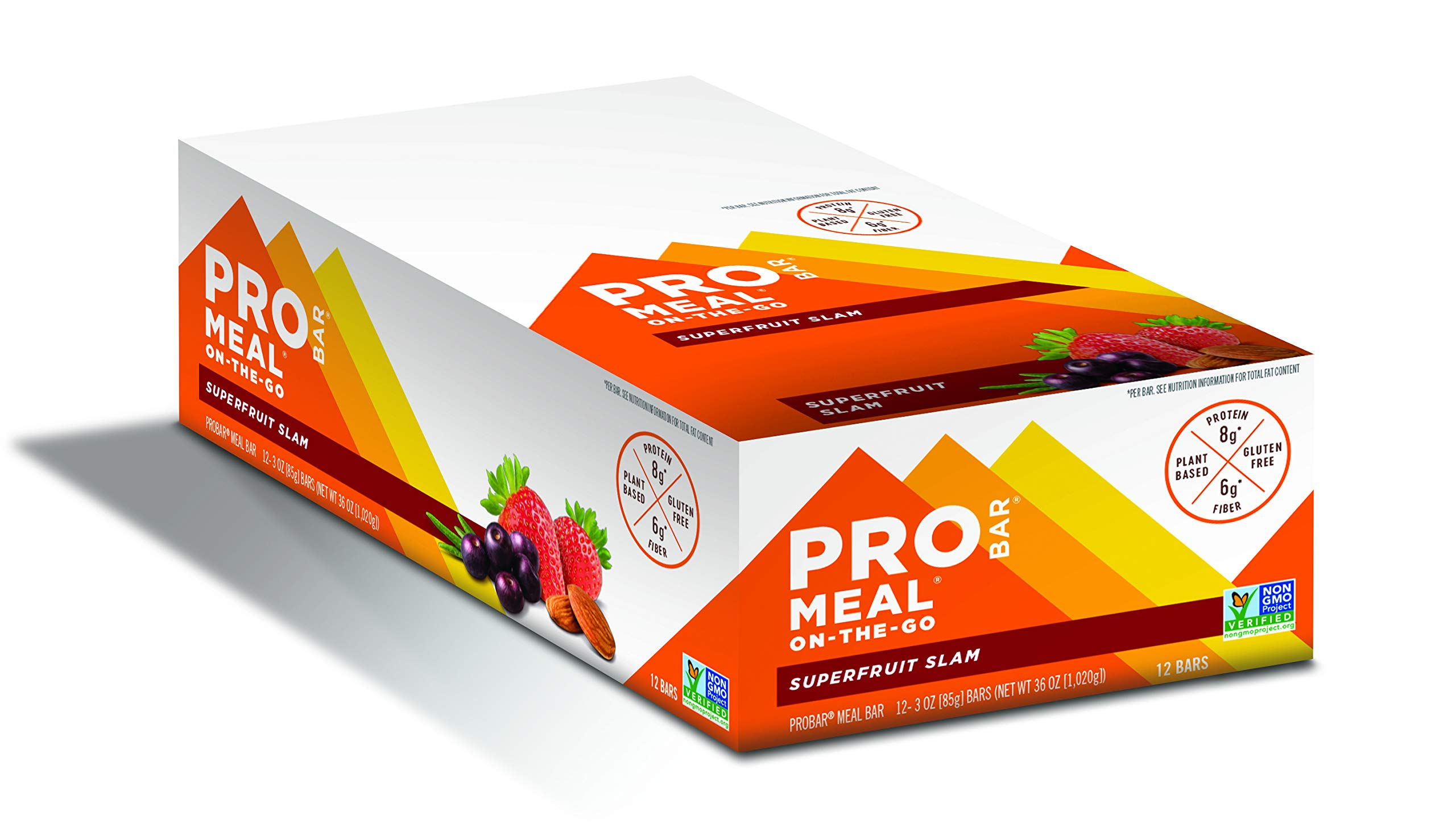 PROBAR - Meal Bar, Superfruit Slam, Non-GMO, Gluten-Free, Certified Organic, Healthy, Plant-Based Whole Food Ingredients, Natural Energy (12 Count)