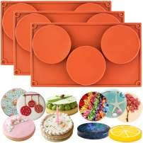 FUNSHOWCASE 3-Cavity Large Round Disc Candy Silicone Molds 3-Bundle