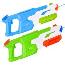 GotechoD Super Soaker Water Gun 2 Pack Squirt Guns for Kids Adults, 25oz/33ft High Capacity Water Soakers Summer Water Blaster Toy for Swimming Pools Party Outdoor Beach Sand Water Fighting