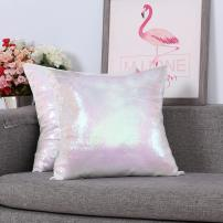 Eternal Beauty Set of 2 Sequin Decorative Pillow Cover Iridescent Throw Pillow Covers for Couch Sofa Throw Pillows 18 X 18 Inches