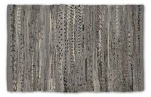 DII Contemporary Reversible Indoor Area Rag Rug, Machine Washable, Handmade from Recycled Fabrics, Unique For Bedroom, Living Room, Kitchen, Nursery and more, 4 x 6' - Gray (Color may vary)