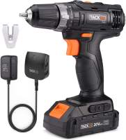 """TACKLIFE 20V Cordless Drill Driver Lithium-Ion 3/8"""", 2-Speed Max Torque 265 in-lbs 19+1 Position with LED, Compact Battery Cell and Charger Included -PCD06B"""