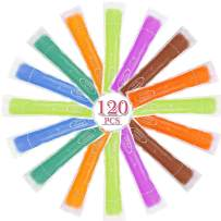 TAGVO 120 Pack Ice Popsicle Mold Bags, Healthy Homemade Snack, Freezer Pops, Yogurt Sticks, Juice & Fruit Smoothies, Ice Candy, BPA Free Popsicle Maker with Ziplock