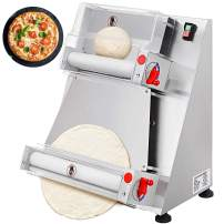 VEVOR Commercial Dough Roller Sheeter 370W Automatically Suitable for Noodle Pizza Bread and Pasta Maker Equipment, 15.7 inch, Silver