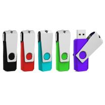 Aiibe 5 Pack 16GB USB Flash Drive 16 GB Flash Drive USB 2.0 Thumb Drive Pack Reliable Flash Disk Memory Stick USB Drives with Led Light (16G, 5 Colors: Black Red Cyan Green Purple)