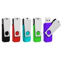 Aiibe 32GB 32G Flash Drive USB 3.0 Thumb Drive 32GB USB Flash Drive 5 Pack 32GB USB 3.0 Stick USB Drives with Led Light (32G, 5 Colors: Black Red Cyan Green Purple)
