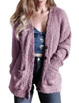 TECREW Women's Button Down Cardigan Chunky Sherpa Knit Sweater Coats Outwear with Pockets