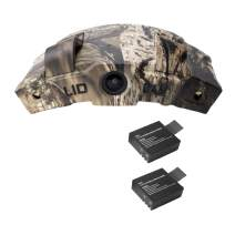 LiDCAM LC-WF Hands Free Digital Camouflage Action Camera Plus Extra Battery, 1080P HD Wi-Fi with Full Audio