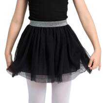 Girls'Tulle Tutu Skirt,Pure Color Layered Ballet Dance Dress up Skirt Soft Lining