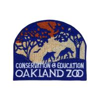 Oakland Zoo California Patch Wildlife Travel Badge Embroidered Iron On Applique