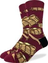 Good Luck Sock Men's Extra Large Pancakes & Bacon Socks, Size 13-17, Big & Tall