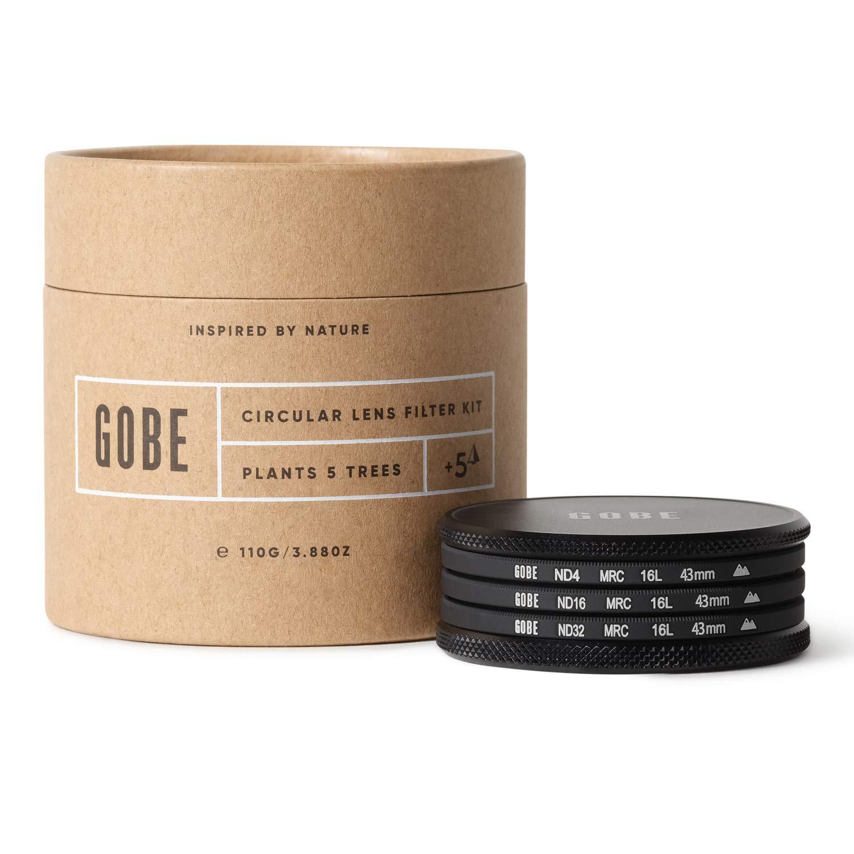 Gobe ND Filter Kit 43mm MRC 16-Layer: ND4, ND16, ND32