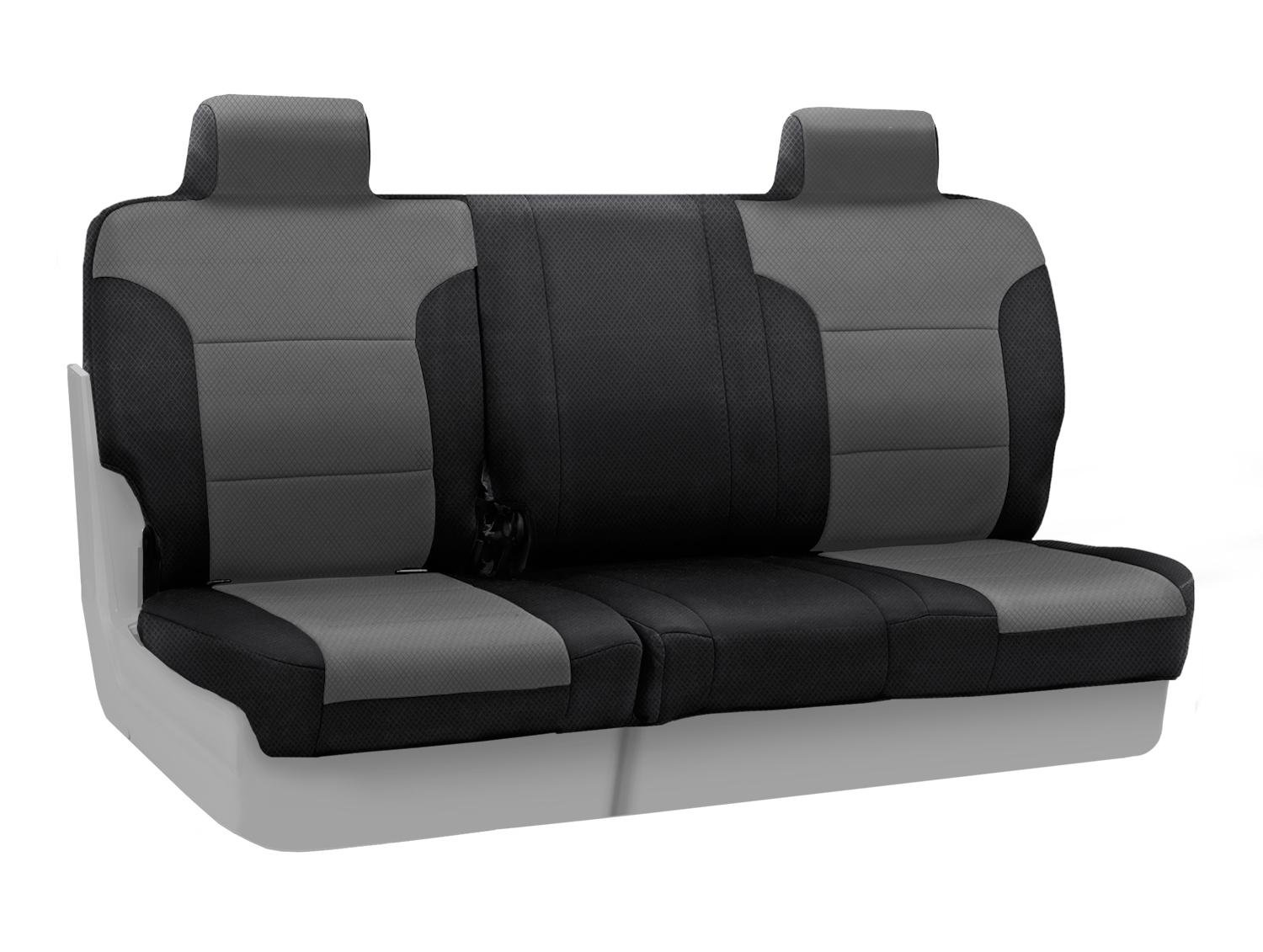 Coverking Custom Fit Front 60/40 Bench Seat Cover for Select Chevrolet S10 Models - Spacermesh 2-Tone (Gray with Black Sides)