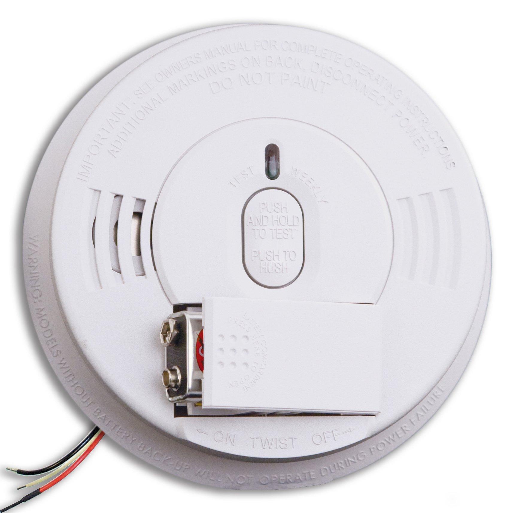 Kidde i12060 Hardwire with Front Load Battery Backup Smoke Alarm, 1 Pack, White