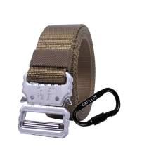 GRULLIN Men Tactical Nylon Belt, Military Duty Rigger Wasitbelt, 1.25 inch Nylon Webbing Molle BDU CQB EDC Belt
