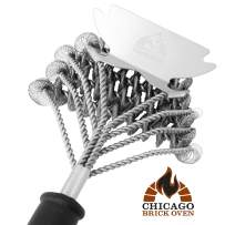 Bristle Free 5-in-1 BBQ Grill Brush Scraper Cleaner Set - Grill Accessories Tool - Best Barbecue Brush for Cleaning Weber Gas / Charcoal, Cast Iron, Portable, Indoor, Propane, Camping, Kamado Grills
