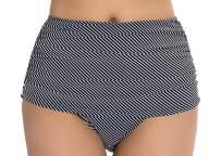 COCOPEAR Women's High Waisted Bikini Bottom Briefs Ruched Swim Shot Tankinis (FBA)