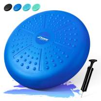 Trideer Core Balance Disc - Home Exercise Wobble Cushion (Free Guide), Office Desk Chair, Wiggle Seat for Therapy (Exercise & Fitness & Rehabitation)