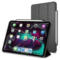 "Trianium Case for iPad Pro 11 Inch, Premium Protective Case Compatible with Apple iPad Pro 11"" 2018 with Holder for Apple Pencil Charging/Smart Foldable Stand Cover/Auto Wake/Sleep Design"