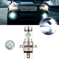 cciyu 1 Pack Xenon White New H4 6000K 60W 6000LM Cree LED 12 SMD Motorcycle Headlight Low Beam Light High Power