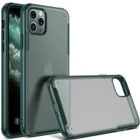 CASEKOO iPhone 11 Pro Max Case, [2nd Generation Upgraded Protection] Matte Finish Protective Case with Soft Edges & High Rigid PC/ABS Back, Cases for iPhone 11 Pro Max 6.5 inch 2019 - Midnight Green