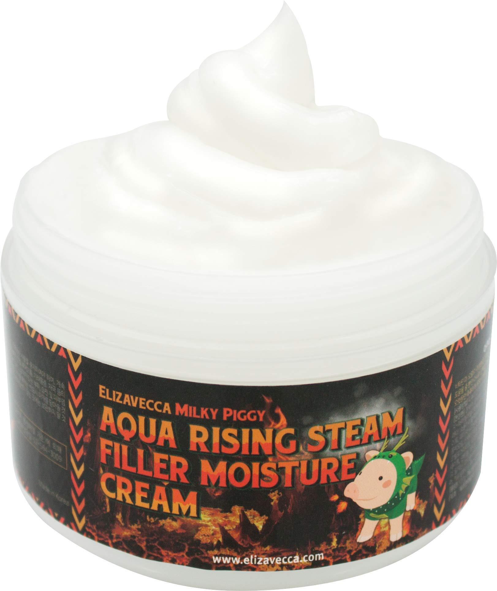 Elizavecca Aqua Rising Argan Gelato Steam Cream 100 Gram - Argan Oil & Hyaluronic Acid / night cream before and after / Argan cream / steam cream before and after