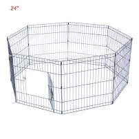 "Ryqtop Pet Playpen Foldable Exercise Pen for Dogs Cats Rabbits Pet Animals - 24 inches (24"")"