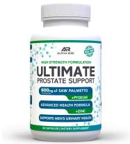 Ultimate Prostate Support - Prostate Health Supplement for Men - 600mg Saw Palmetto 300mg Pygeum - 16 Herbs + Zinc - Relief from Enlarged Prostate & Stop Frequent Urination - 60 Capsules