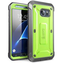 SUPCASE Unicorn Beetle Pro Series Case Designed for Galaxy S7, with Built-In Screen Protector Full-body Rugged Holster Case for Samsung Galaxy S7 (2016 Release) (Green/Gray)