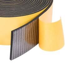 "Neoprene Weather Stripping 2"" W X 1/8"" T, Self Adhesive Foam Rubber Seal Strip Tape, 16 Ft Length"