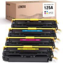 LEMERO Remanufactured Toner Cartridge Replacement for HP 125A CB540A CB541A CB542A CB543A to use with Color LaserJet CP1215 CP1518NI CP1515N CM1312 CM1312nfi MFP (Black, Cyan, Magenta, Yellow, 4-Pack)