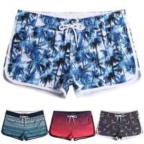 MaaMgic Womens Swim Shorts Printed Elastic Surf Sport Retro Boardshorts Quick Dry for Women Beach Wear Swim Bottom Trunks