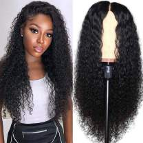 Pizazz Curly Lace Front Wigs Human Hair 150 Density Brazilian Human Hair wigs for Black Women Pre Plucked Natural Hairline Wigs with Baby Hair (24'', Curly Wig)