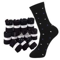 Dress Socks for Men, 12 Pack Segarty Men's Partterned Classic Business Combed Cotton Socks