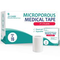 JJ CARE [Pack of 16] Microporous Tape, Medical Paper Tape 2 inches x 10 Yards, Hypoallergenic Paper Surgical Tape, Latex Free Adhesive for First Aid Supplies