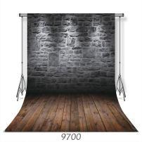 WOLADA 10x10FT Vinyl Brick Wall Wood Floor Photography Background Studio Photo Props Backdrop Studio Props 9700