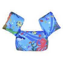 DOOHALO Kids Swim Life Jacket Vest Swimming Aid Floats with Arm Wings Toddler Children Puddle Jumper Suitable for 22-58 lbs Infant Baby