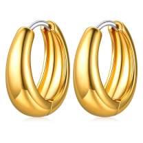 FaithHeart Women Huggie Hoop Earrings-Vintage Celtic Knot/Snake/Chains Charm Hoops for Teen Girls Sleeping Earring Jewelry