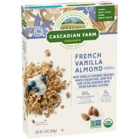 Cascadian Farm Organic Granola, French Vanilla Almond Cereal, 13 oz