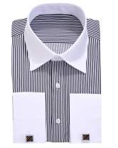 Alimens & Gentle French Cuff Regular Fit Dress Shirts (Cufflink Included)