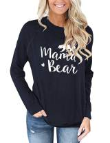 luvamia Women's Casual Long Sleeve Crewneck Sweatshirt Loose Shirts Blouse Tops