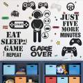 26 Pieces Gamer Wall Sticker Gamer Wall Decals Children Video Game Room Decor Gaming Controller Wall Stickers Removable DIY Cartoon Party Wallpaper for Gamer Bedroom Playroom Decor (Classic Style)