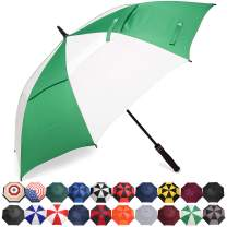 BAGAIL Golf Umbrella 68/62/58 Inch Large Oversize Double Canopy Vented Automatic Open Stick Umbrellas for Men and Women