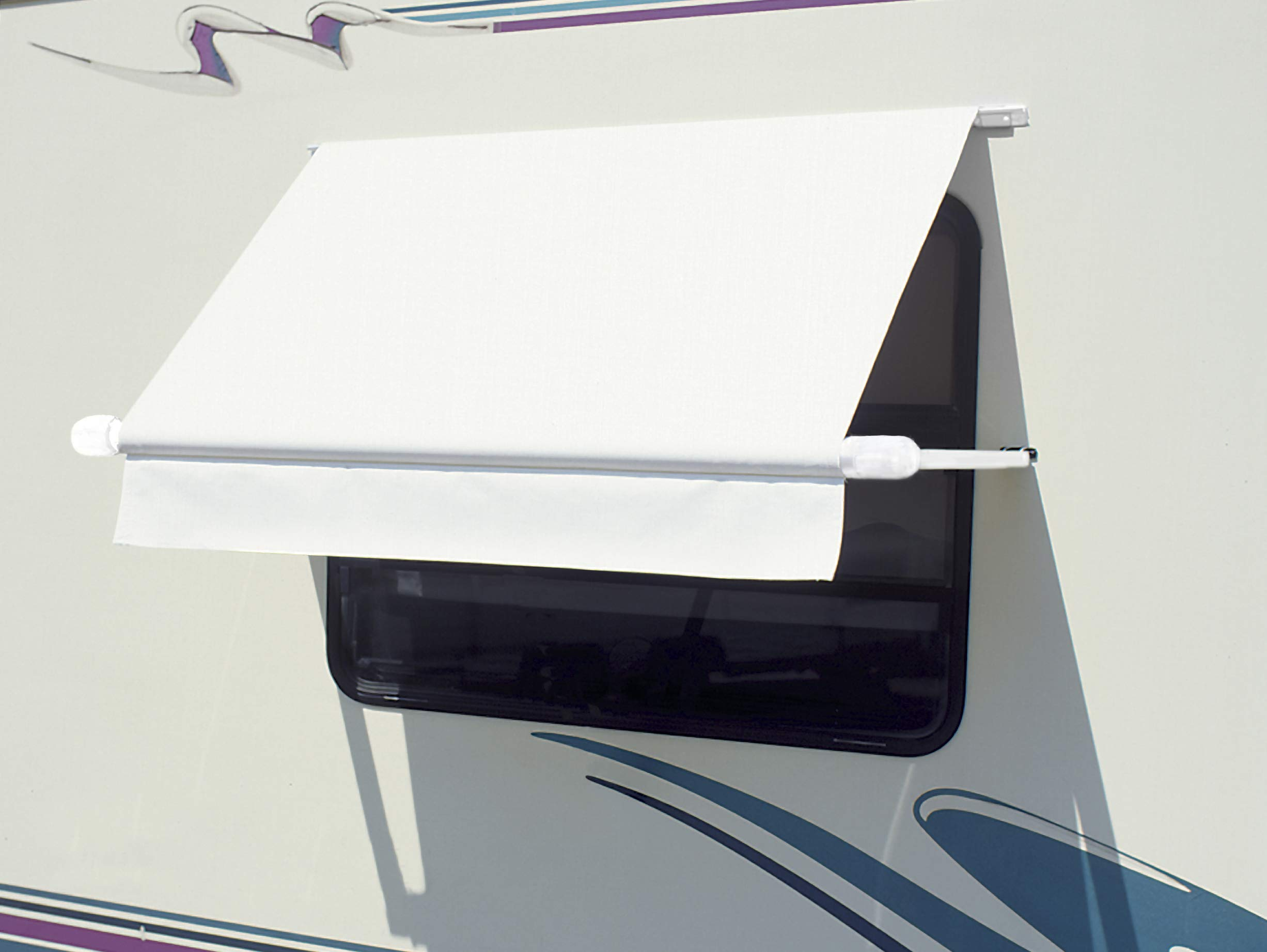 """CAREFREE WH0454F4FW Simply Shade RV Window Awning-White Vinyl-4.5' (54"""")"""