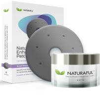 3 PACK NEW NATURAFUL - Breast Enhancement Cream & Enhancement Patch BUNDLE - Natural Breast Enlargement, Firming and Lifting   Includes Handbook   $429 Value