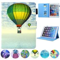 JZCreater Case for iPad 4, iPad 2/3 Wallet Case - Multiple Viewing Angles Stand Folio Case Cover, Leather Wallet Case with Auto Sleep/Wake, Fire Balloon