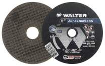 Walter 11F052 ZIP Stainless Cutoff Wheel - [Pack of 25] A-60-SS ZIP Grit, Type 1, 5 in. Abrasive Wheel for Cutting Pipes, Hard Surfaces