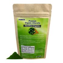 Febico Pure Organic Chlorella Powder, Rich Ingredients, Protein, Vitamin, Vegan, Best Green Superfood, high-Quality, Non-GMO, Detox, USDA, Naturland and Halal Certified, 250grams for 83days
